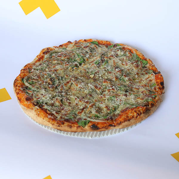 پیتزا قارچ و اسفناج